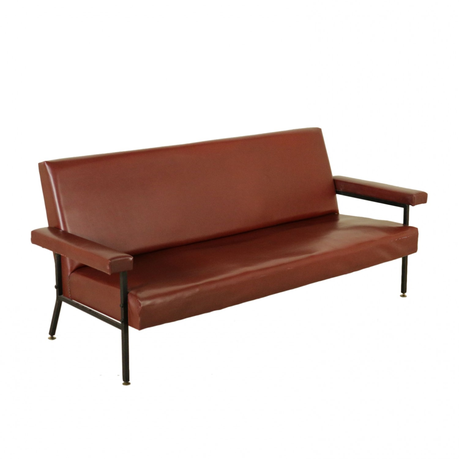 Sofa Leatherette Vintage Manufactured In Italy 1960s